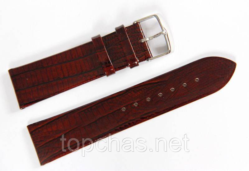 Ремешок кожаный Bros Cvcrro a Mano для наручных часов с классической застежкой, коричневый, 22 мм
