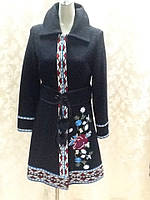 Пальто в стиле Dolce&Gabbana демисезонное женское вышитое