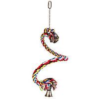 Игрушка канат с колокольчиком для попугая 50 см