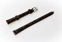 Ремешок кожаный Bros Cvcrro a Mano для наручных часов с классической застежкой, черный, 10 мм
