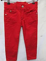 Детские штаны на резинке красные 1-5лет