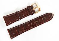 Ремешок кожаный Bros Cvcrro a Mano для наручных часов с классической застежкой, коричневый, 24 мм