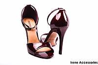 Туфли женские лаковые бордо Deenoor с 35 размера