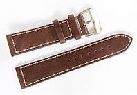 Ремінець шкіряний Bros Cvcrro a Mano для наручних годинників з класичною застібкою, коричневий, 22 мм