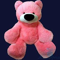 Большая мягкая игрушка плюшевый медвежонок Бублик 100 см (ярко-розовый)