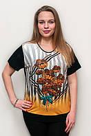 Женская футболка желтые маки 1253