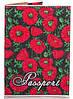 Яркая женская обложка для паспорта из кожзама PASSPORTY (ПАСПОРТУ) KRIV127 (красный)