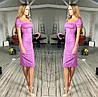 Облегающее платье с квадратным декольте, фото 2