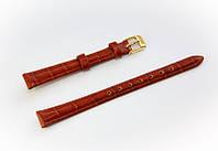Ремешок кожаный Bros Cvcrro a Mano для наручных часов с классической застежкой, коричневый, 10 мм
