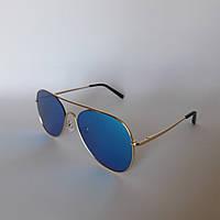 Женские солнцезащитные очки Kaizi 1702 голубое зеркало