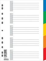 Разделитель цветной А4 5позиций (7704095)