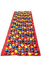 Массажный коврик с цветными камнями 200 х 40 см