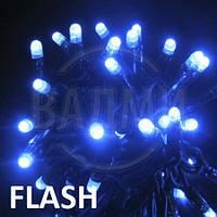 "Аренда led гирлянды ""нить-флеш LED-PLR-50-5М-240V-B-F"", 5+ м, синий+белый хол."