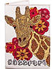 Интересная женская обложка для паспорта из кожзама PASSPORTY (ПАСПОРТУ) KRIV022 (оранжевый)