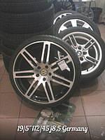Диски литые оригинал 19/5*112/45 j8.5  Volkswagen/Audi с Шинами летними Б/У 225/35/19 Nankang 6мм  в сборе