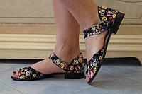 Стильные женские летние босоножки цветные. АРТ-0509