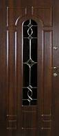 Двери входные металлические с витражами Армекс Модель 06 В
