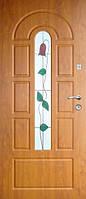 Двери входные металлические с витражами Армекс Модель 17 В