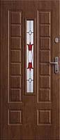 Двери входные металлические с витражами Армекс Модель 35 В