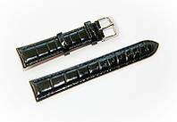 Ремешок кожаный Bros Cvcrro a Mano для наручных часов с классической застежкой, черный, 18 мм