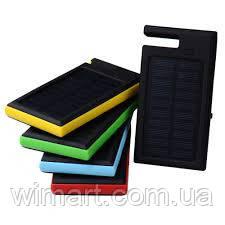 Солнечное зарядное устройство 12000mAh внешний аккумулятор ES900. Черный.