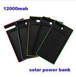 Солнечное зарядное устройство 12000mAh внешний аккумулятор ES900. Черный., фото 6