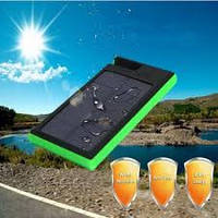 Солнечное зарядное устройство 12000mAh внешний аккумулятор ES900. Зеленый.