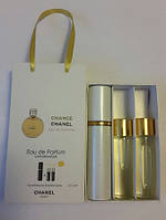 Мини парфюм с феромонами Chanel Chance EDP в подарочной упаковке 3 x 15 ml
