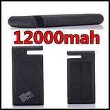 Солнечное зарядное устройство 12000mAh внешний аккумулятор ES900. Черный., фото 2
