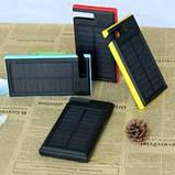 Солнечное зарядное устройство 12000mAh внешний аккумулятор ES900. Черный., фото 8