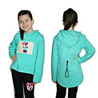 Детская модная туника с капюшоном