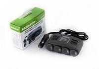 Розгалужувач автомобільного прикурювача БЕЛАВТО, 4 в 1 + USB РП13 (шт.)