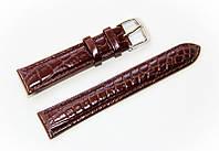 Ремінець шкіряний Bros Cvcrro a Mano для наручних годинників з класичною застібкою, коричневий, 18 мм