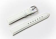 Ремешок кожаный Bros Cvcrro a Mano для наручных часов с классической застежкой, белый, 18 мм