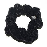 Резинка для волос велюровая (черная)