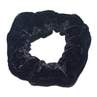 Резинка для волос велюровая ( черная)