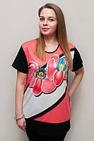 Женская футболка кораловая орхидея 2045