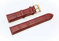 Ремешок кожаный Bros Cvcrro a Mano для наручных часов с классической застежкой, коричневый, 20 мм