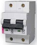 Автоматический выключатель ETIMAT10 2p С 125А (20 kA)