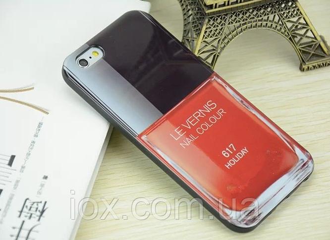 Силиконовый чехол в форма лака для ногтей №617 для Iphone 6/6S