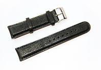Ремешок кожаный Bros Cvcrro a Mano для наручных часов с классической застежкой, черный, 20 мм