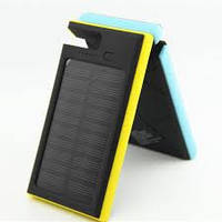 Внешний аккумулятор на 12000mAh с солнечной панелью ES900. Желтый., фото 1