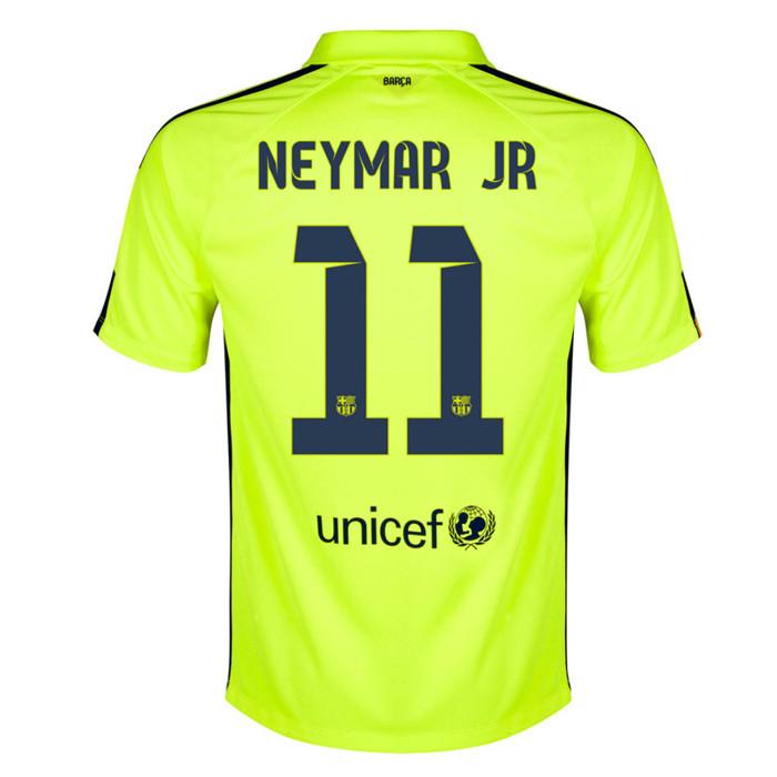 Футбольная форма Барселона Неймар (Neymar) 2014-2015 выездная (салатовая) 48a09827b1e