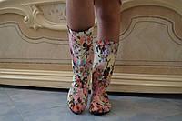 Женские весенние стильные сапоги. Арт-0519