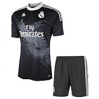 Футбольная форма Реал Мадрид 2014-2015 выездная (черная)