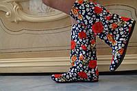 Женские весенние цветные сапоги . Арт-0522