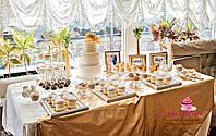 Свадебный Кенди бар (Candy Bar) в золотом цвете