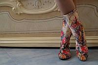 Женские весенние цветные сапоги . Арт-0523