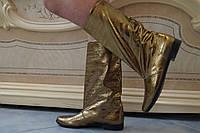 Женские весенние золотистые красивые сапожки . Арт-0526, фото 1