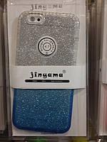 Чехол бампер для iPhone 6/6S с блёстками